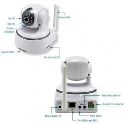 Caméra IP HD motorisée WiFi