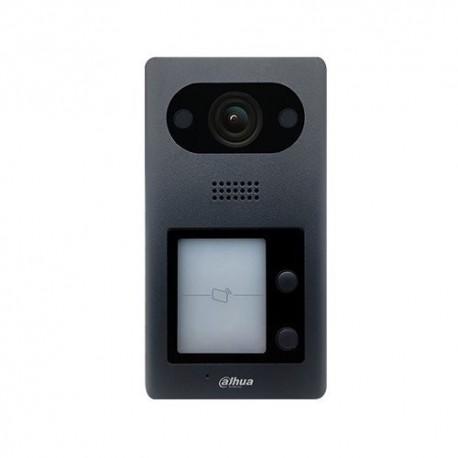 Module interphone caméra 3MP 1.9 mm 140° IP IK08 2 boutons d'appel lecteur