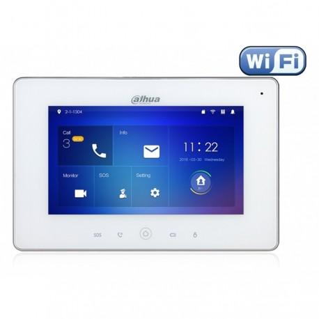 "Ecran interphone DAHUA Wifi 7"" 12Vdc/POE Slot SD AL6/1"