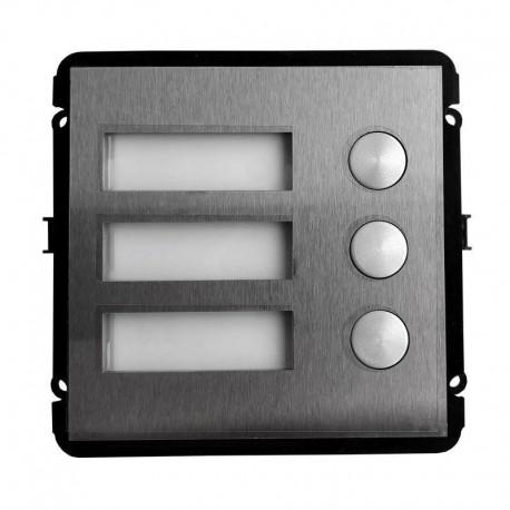 Module d'interphonie 3 boutons d'appel version multi-modules
