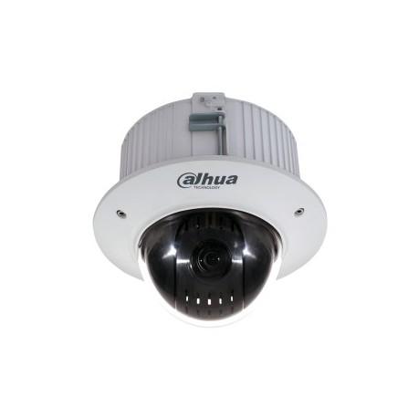 Dôme PTZ DAHUA IP MP 5.1x61.5 mm Zoomx12 IP66 IK10 dWDR 24 Vac/POE+encastrable