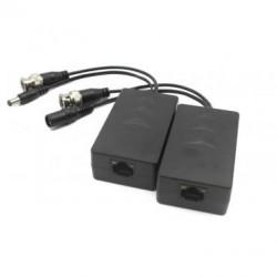 Balun transmission Dahua HDCVI/TVI/AHD + alimentation sur UTP CAT5/6 1MP 400m