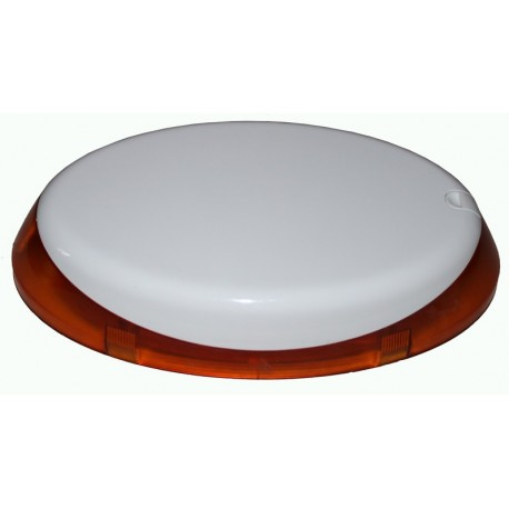 Sirène extérieure sans-fil bidirectionnelle - forme ovale - flash Ambre