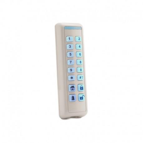 Clavier Slim Intérieur bidirectionnel avec lecteur proximité  Blanc  (sans tag)  Compatible uniquement Agility
