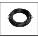 Câble coaxial RG-59 combiné vidéo / alimentation 20M - Spécial HD