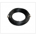 Câble coaxial RG-59 combiné vidéo / alimentation 30M - Spécial HD