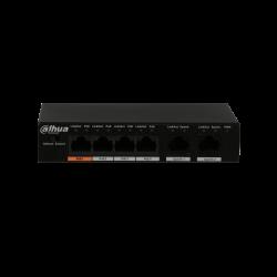 Switch Dahua 4 ports Poe. 2 ports uplink - PFS3006-4ET-60