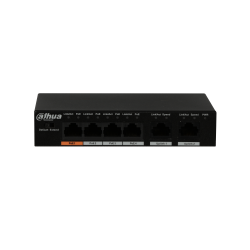 Switch Dahua 4 ports Poe. Port 2-4 30w. total 60w. 2 ports uplink