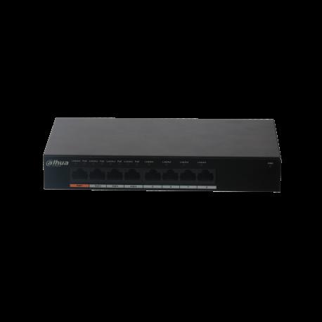 Switch Dahua 8 ports Gigabits dont 4 PoE - PFS3008-8GT-60
