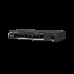 Conmutador Dahua 9 puertos 8-10/100Mpbs PoE - PFS3009-8ET-96