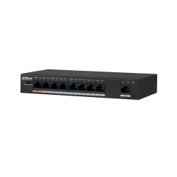 Switch Dahua 9 ports 8*10/100Mpbs PoE - PFS3009-8ET-96