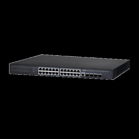 Switch Dahua 24 ports Gigabits PoE - PFS4428-24GT-370