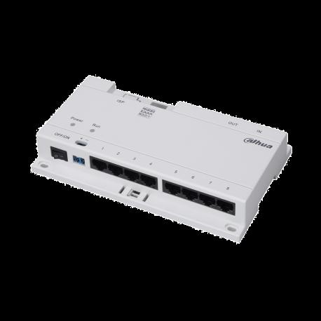 Switch 8 ports Interphonie DAHUA 24V 40 W Prévoir alimentation