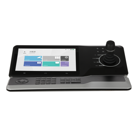 Joystick des fonctions PTZ / Prise en charge 4K  /  En option: clavier de contrôle réseau