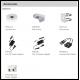 Eye ball AV PENTABRID Switch sur câble 6MP 2.7x13.5mm Zoom IR30m IP67 IK10 12Vdc Dahua