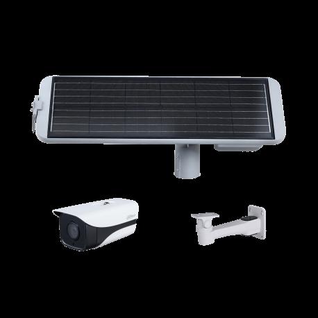 Kit Caméra Réseau IR 4G de type Bullet 2 mégapixels - IPC-HFW4230MP-4G-AS-I2 + Panneau Solaire + support