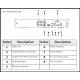 Enregistreur 4 canaux Penta-brid 4K compact H.265+/H.265 Entrées vidéo HDVCI/AHD/TVI/CVBS/IP6canaux