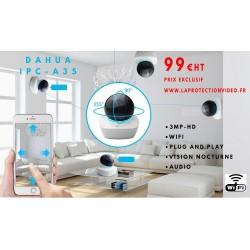 DAHUA A35 mini dôme motorisé 360° pour intérieur